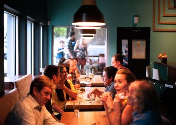 people sitting at a restaurant